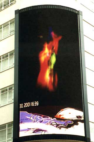 Large LED display for outdoor advertising in London