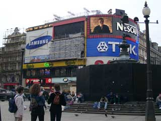 Giant digital LED screen in London