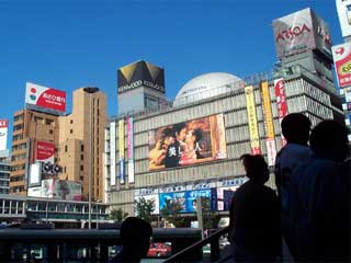 Large outdoor advertizing screen in Tokyo