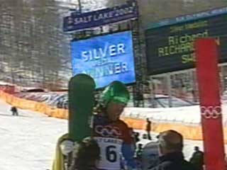 Giant digital screen and display in Ski Slalom Area