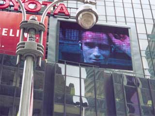 Large advertizing LED screen
