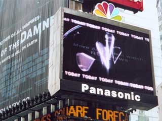 Large advertizing LED screen of Panasonic