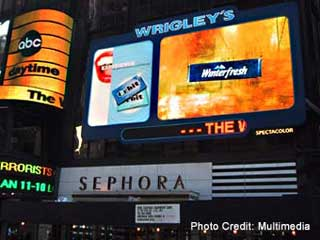 LED billboards in outdoor advertising
