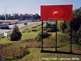 Roadside advertising LED billboard