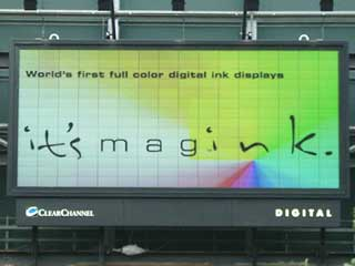 Magink - full color reflective digital ink display