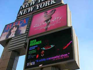 Advertizing LED screen in Las Vegas