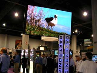 Daktronics LED screens at Las Vegas exhibition