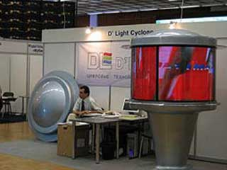 """D'light"" company's booth"