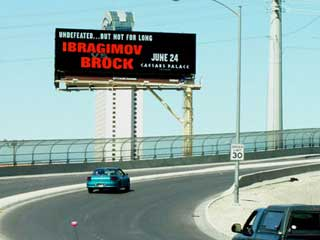 Clear Channel's LED billboard in Las Vegas