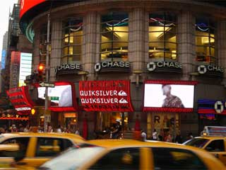 Advertizing outdoor LED screens in New York