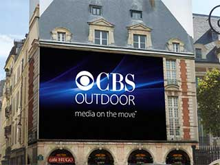 CBS Outdoor LED screen