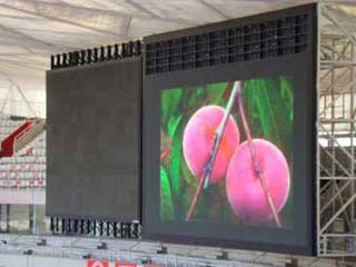 "The main LED screen at ""Bird's Nest"""