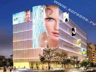 Commercial center in Bucharest (project). Daktronics company.