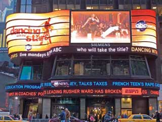 The ABC Times Square Studios' LED video display