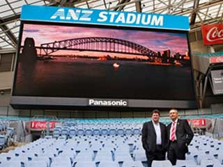 LED screen at ANZ Stadium in Sidney