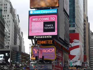 SMD LED Panasonic screen at the Times Square in New York