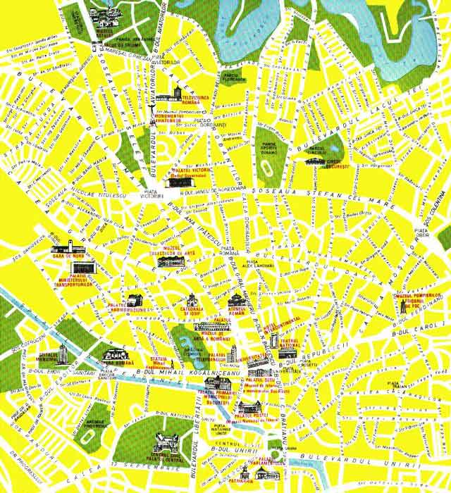 Central city plan of Bucharest