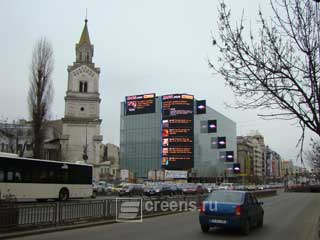 LED screens project completed by Daktronics in the center of Bucharest