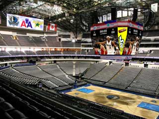 LED video screens at the American Airlines Center in Dallas