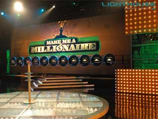 """Make Me a Millionaire"" at LED video screen"