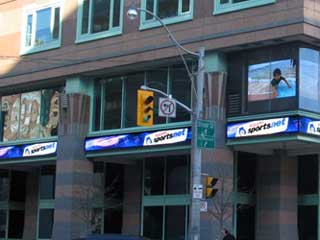 LED informational signs and LED video screens of Rogers Sportsnet