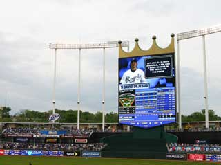 The world largest HD LED video screen at the Kansas City Stadium (USA)