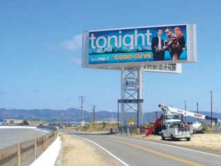 CBS Outdoor giant digital LED billboard in the San Francisco Bay area