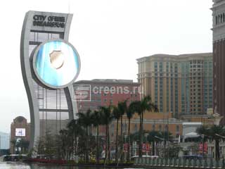 Ring-shaped LED screen in Macau