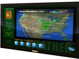 Typical Accuweather templates for a local television weather report