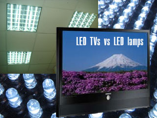 TV LED contre des lampes à LED