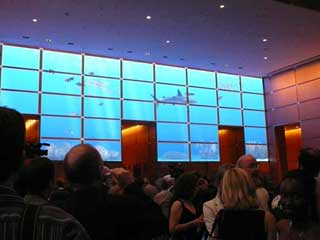 Comcast's high definition LED lobby screen manufactured by Barco
