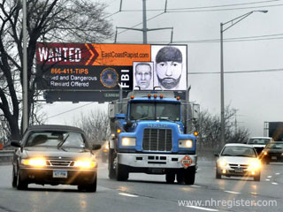 "FBI placed a ""Wanted"" ad on a digital billboard"