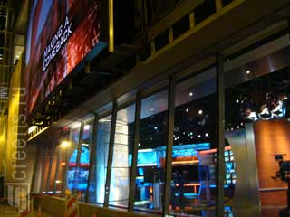Outdoor LED screen of CBS Studio in Chicago