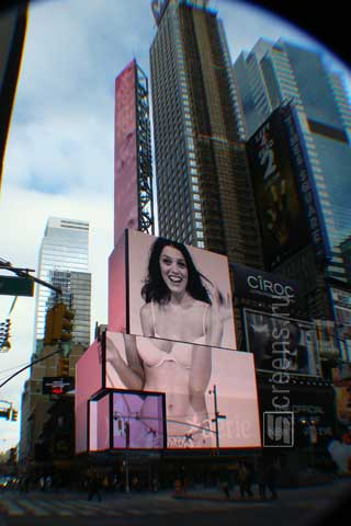 Huge outdoor advertising LED screens at Times Square in New York