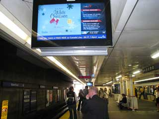 LCD panels by Lamar Transit Advertising