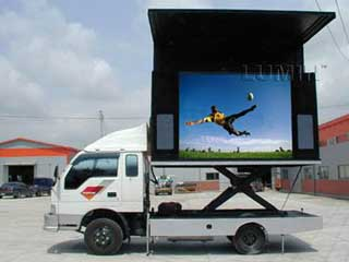 Mobile LED screen with 12 mm pitch