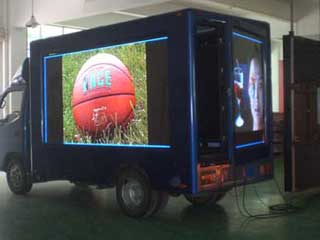Mobile 10 mm LED screen for outdoor advertising