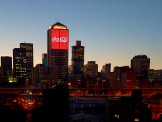 Coca-Cola media façade, Johannesburg, South Africa