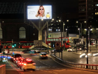 LED screen in London operated by the advertising company Ocean Outdoor