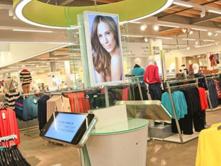 The advertising LCD panels in Marks&Spencer store in Manchester