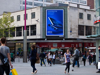 The advertising LED screen Ocean Outdoor in London