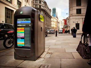 One of the 200 LCD kiosks installed by Renew in London