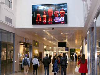 LCD video wall at Hounds Hill Shopping Centre