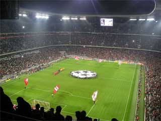 Two LED screens and LED perimeter at the Allianz Arena in Munich