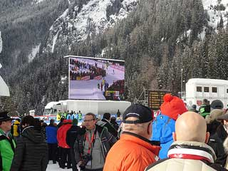Rental LED screen at the Biathlon World Cup