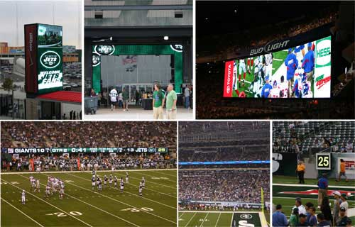 47 500 square feet of digital display technology at the new Meadowlands Stadium