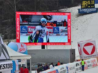 Rental LED screen at the Alpine Ski World Cup
