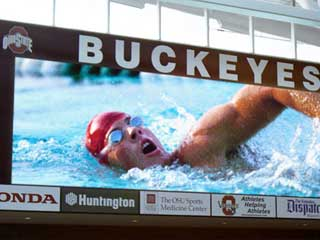 LED screen for swimming competitions