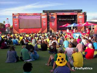 The official FIFA 2010 Fan Fest with LED screen (South Africa)