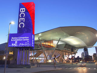 LED billboards at the Boston Convention & Exhibition Center